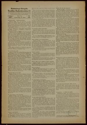 Deutsches Nachrichtenbüro vom 27.04.1939
