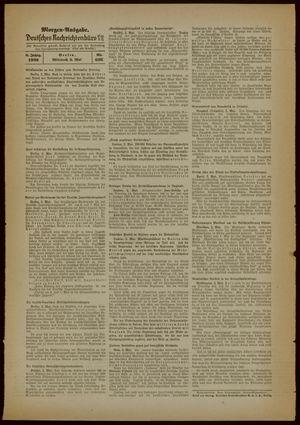 Deutsches Nachrichtenbüro vom 03.05.1939