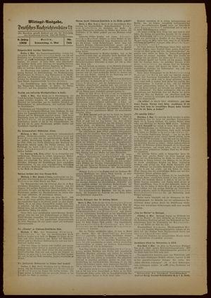 Deutsches Nachrichtenbüro on May 4, 1939