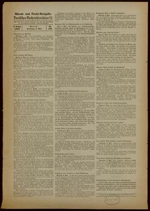 Deutsches Nachrichtenbüro vom 09.05.1939