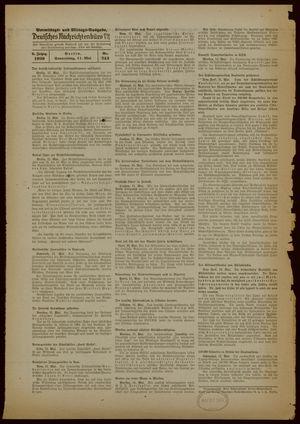 Deutsches Nachrichtenbüro vom 11.05.1939