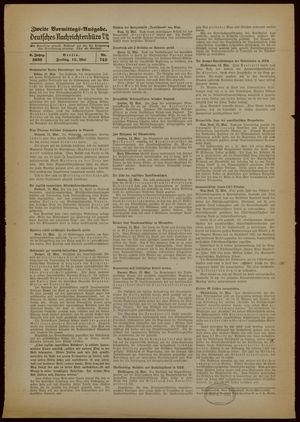 Deutsches Nachrichtenbüro vom 12.05.1939