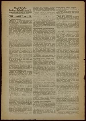 Deutsches Nachrichtenbüro vom 13.05.1939