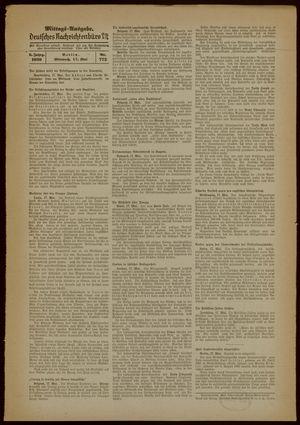 Deutsches Nachrichtenbüro vom 17.05.1939