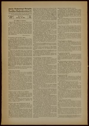 Deutsches Nachrichtenbüro vom 19.05.1939