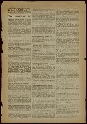 Deutsches Nachrichtenbüro on May 27, 1939