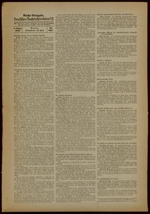 Deutsches Nachrichtenbüro vom 10.06.1939