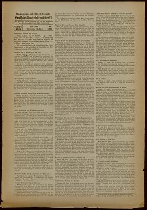 Deutsches Nachrichtenbüro vom 14.06.1939