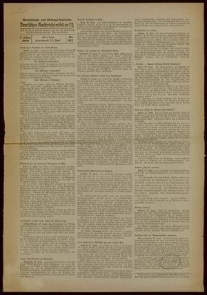 Deutsches Nachrichtenbüro vom 17.06.1939