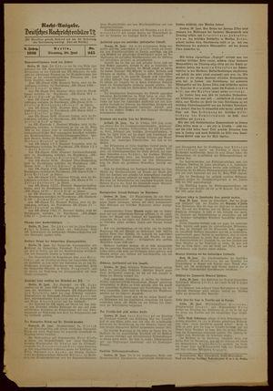 Deutsches Nachrichtenbüro vom 20.06.1939