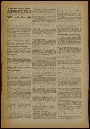 Deutsches Nachrichtenbüro vom 21.06.1939