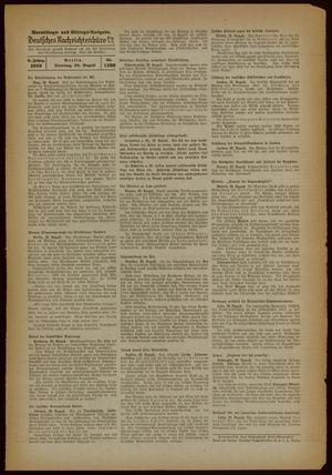 Deutsches Nachrichtenbüro vom 29.08.1939