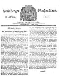 Grünberger Wochenblatt