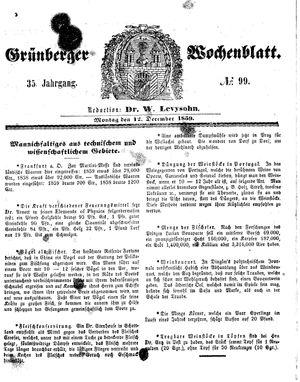 Grünberger Wochenblatt on Dec 12, 1859