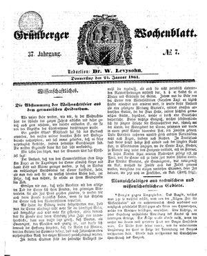 Grünberger Wochenblatt vom 24.01.1861