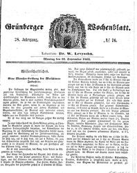 Grünberger Wochenblatt (22.09.1862)