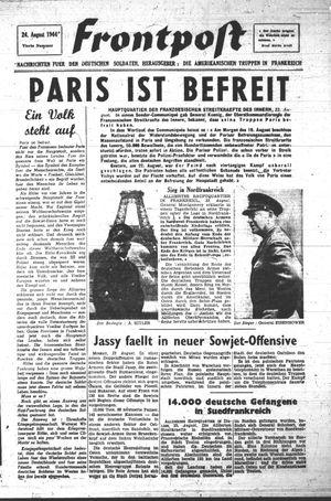 Frontpost vom 24.08.1944