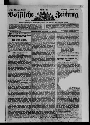 Vossische Zeitung vom 01.01.1913