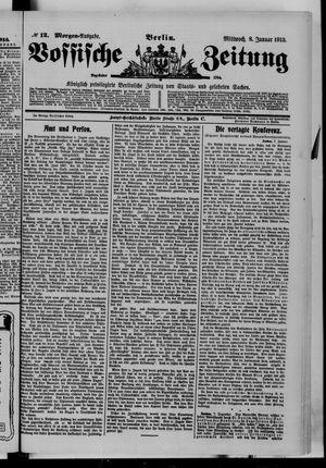 Vossische Zeitung vom 08.01.1913