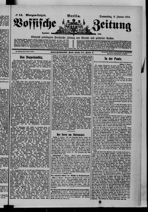 Vossische Zeitung vom 09.01.1913