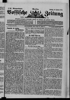 Vossische Zeitung vom 10.01.1913