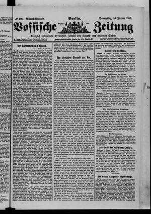 Vossische Zeitung on Jan 16, 1913
