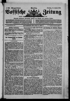 Vossische Zeitung vom 21.01.1913
