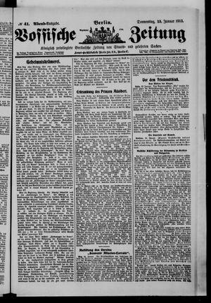Vossische Zeitung vom 23.01.1913