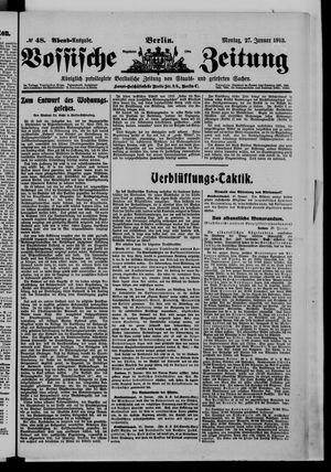 Vossische Zeitung vom 27.01.1913