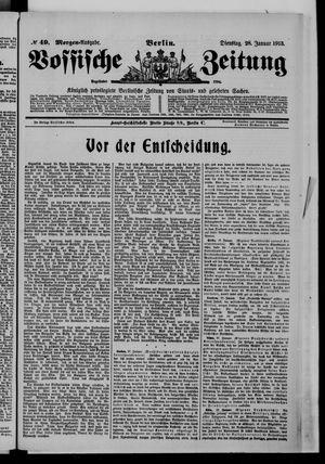 Vossische Zeitung vom 28.01.1913