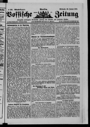 Vossische Zeitung vom 29.01.1913