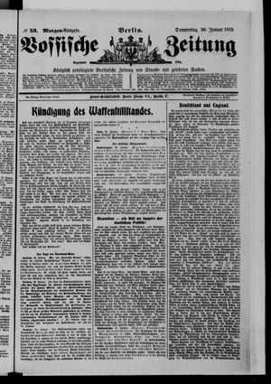 Vossische Zeitung vom 30.01.1913