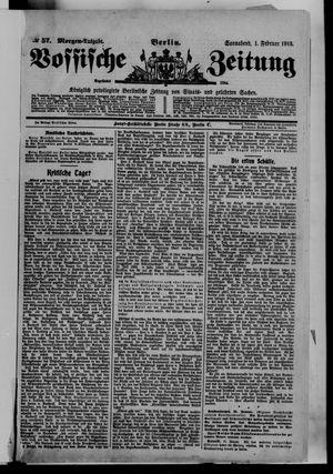 Vossische Zeitung vom 01.02.1913