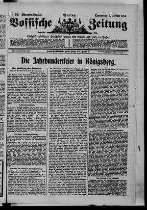 Vossische Zeitung vom 06.02.1913
