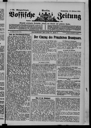 Vossische Zeitung vom 13.02.1913