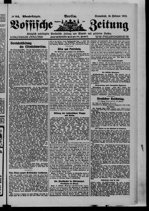 Vossische Zeitung vom 15.02.1913