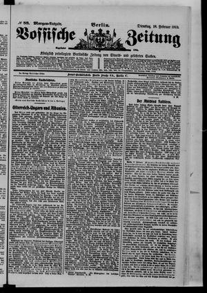Vossische Zeitung vom 18.02.1913