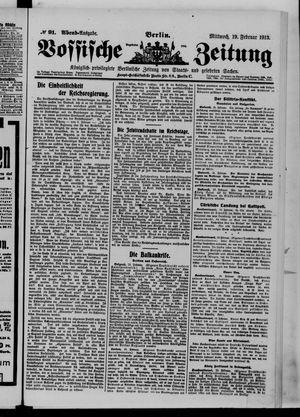 Vossische Zeitung vom 19.02.1913