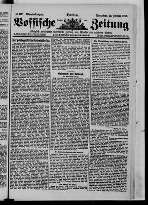 Vossische Zeitung vom 22.02.1913