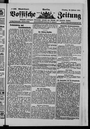 Vossische Zeitung vom 25.02.1913