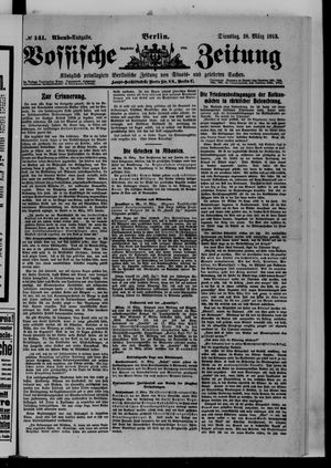 Vossische Zeitung vom 18.03.1913