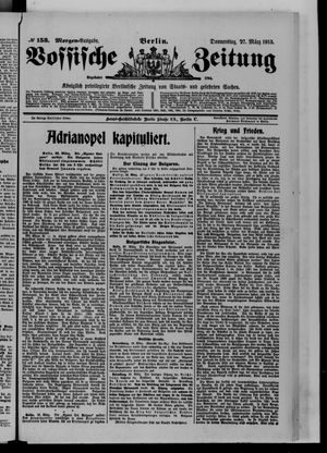 Vossische Zeitung vom 27.03.1913