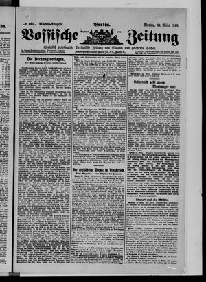 Vossische Zeitung vom 31.03.1913