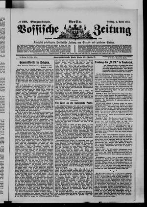 Vossische Zeitung vom 04.04.1913