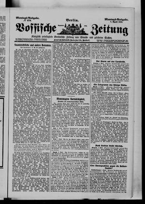 Vossische Zeitung vom 07.04.1913