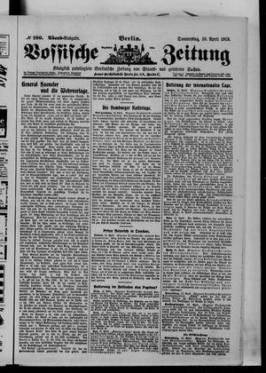 Vossische Zeitung vom 10.04.1913