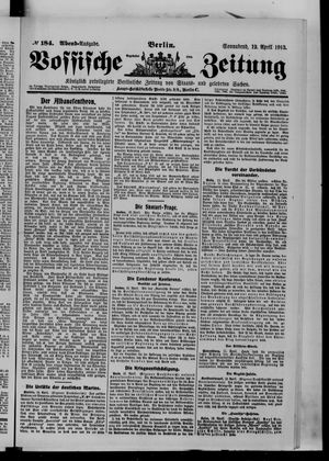 Vossische Zeitung vom 12.04.1913