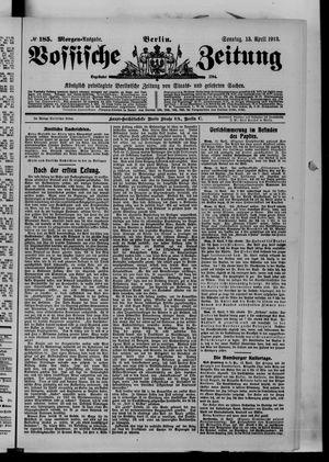 Vossische Zeitung vom 13.04.1913