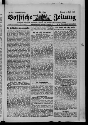 Vossische Zeitung vom 14.04.1913