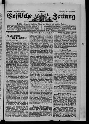 Vossische Zeitung vom 15.04.1913